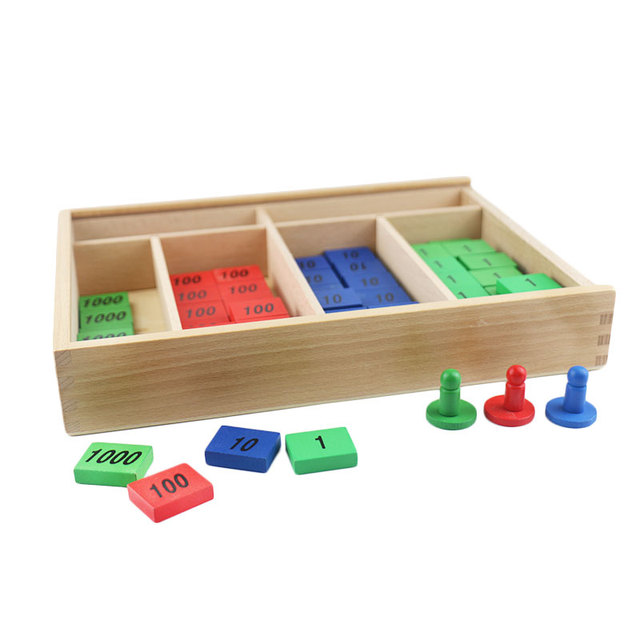 Montessori Toys Wooden Early Educational Math Toy Stamp Game Materials For Children
