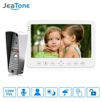JeaTone 7 Built in Memory 1 Outdoor Camera 1 Monitor Video DoorPhone Doorbell Intercom with Image Video Intercom