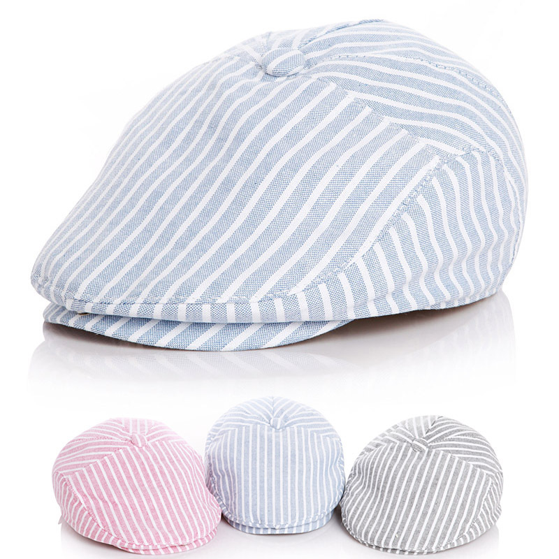 где купить Cute !! Children Stripe Classic Style Baby Fashion Cap Toddler Summer Berets Baby Hat Boy Caps for Child Girl Berets Kids Hats по лучшей цене