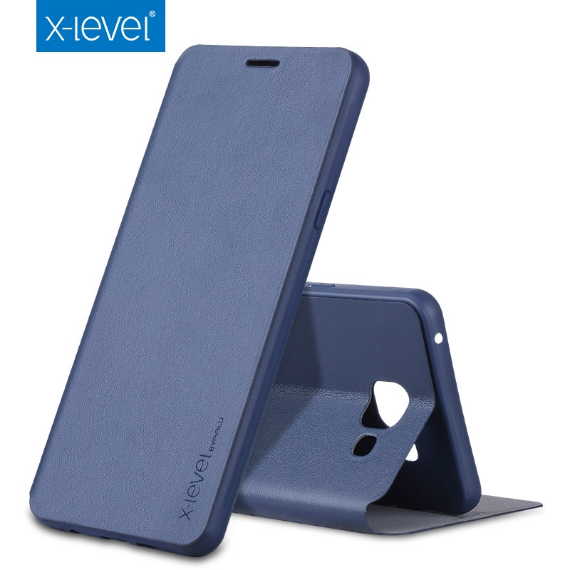 X-Level Flip Leather Case For Samsung Galaxy A7 A5 A3 J3 J5 J7 Prime 2016/2017 A6 A8 Plus 2018 S8 S9 Plus Note 5 8 Cover Case