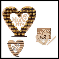2018 New Mr&Mrs Wedding Party Decorative Decorations Letters Crafts Mr & Mrs Letter Love Heart Shape Wooden Chocolate Frame
