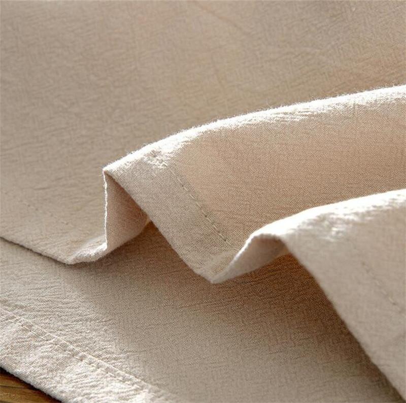 Tunique chinoise beige en lin et coton, tissu couture