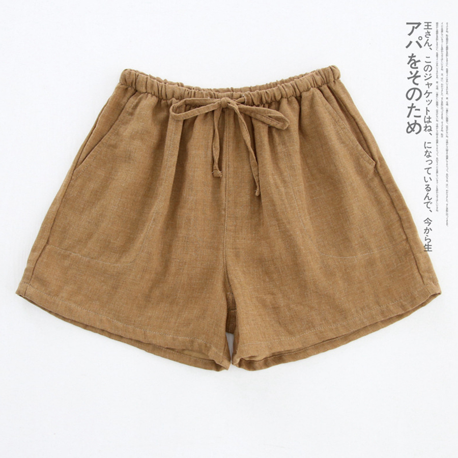 Summer Print Cotton Sleep Bottoms Women M-XL Plus Size Harajuku Comfortable Pajama Pants Drawstring Loose Home Shorts Mujer 1