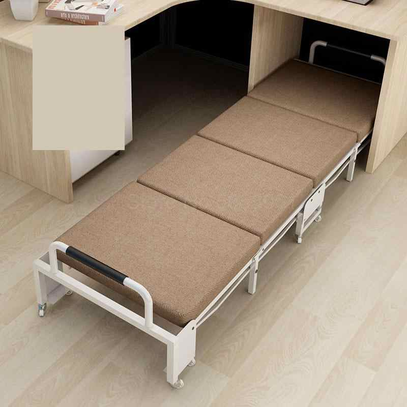 Folding Bed Office Siesta Chair Portable Single Bed Household Reinforced Siesta Bed Simple Army Bed Economical