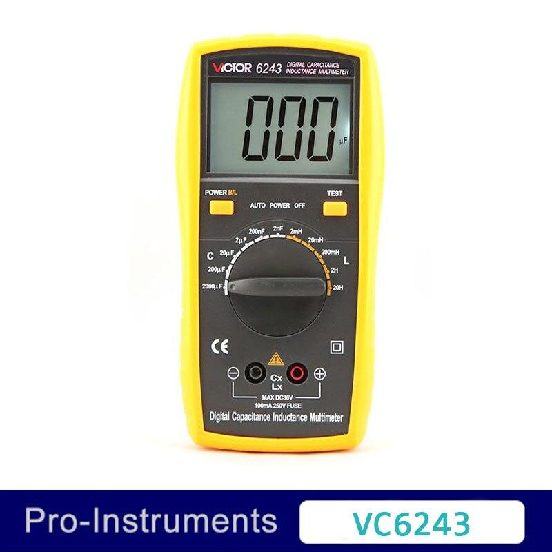 Victor VC6243 Professional Victor Inductance CAPACITANCE LCR Meter Digital Multimeter Resistance Meter nflc victor digital multimeter 20a 1000v resistance capacitance inductance temp vc9805a