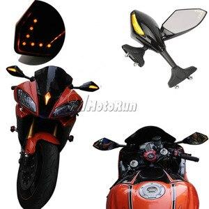 Image 2 - MOTORCYCLE LED TURN SIGNAL MIRRORS FOR KAWASAKI NINJA 6R 9R 650R 250R 636/YAMAAH YZF R1 R6 R6S/SUZUKI GSXR 600 750 1000 KATANA