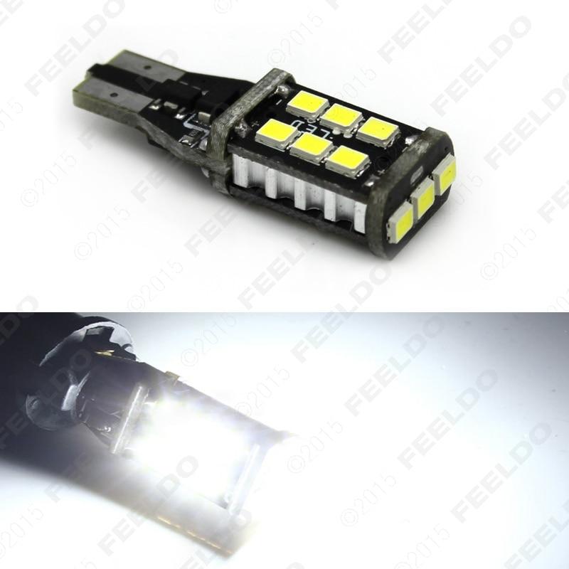 2Pcs Xenon white 15W T15/T10 194 2835SMD 15led Car LED Light Canbus No-Error LED Bulbs #J-5294 carprie super drop ship new 2 x canbus error free white t10 5 smd 5050 w5w 194 16 interior led bulbs mar713