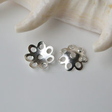 Solid 925 Sterling Silver Bead Caps ,1 piece(China)