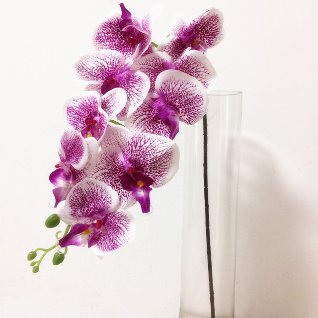 Artificial Phalaenopsis Orchids Simulated Leopard Moth Orchid Flower