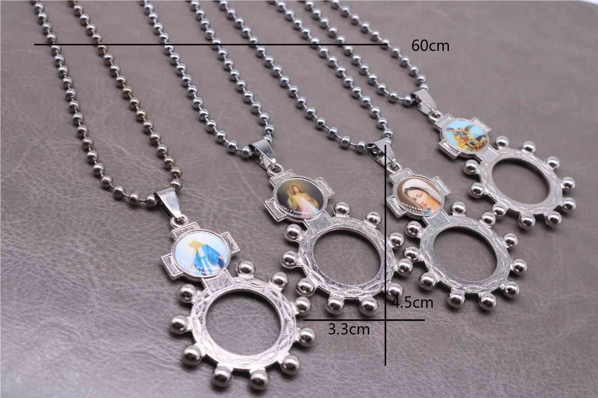 Hot classic Jesus finger clasp pendant long chain. Fingers buckle rose necklace, fashion classic casual pendant beaded