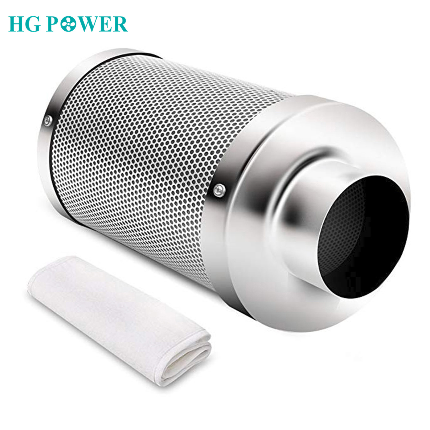4 6 Carbon Filter Air Purifier for Inline Fan Hydroponics Greenhouse Indoor Gardening Grow Tent Ventilation