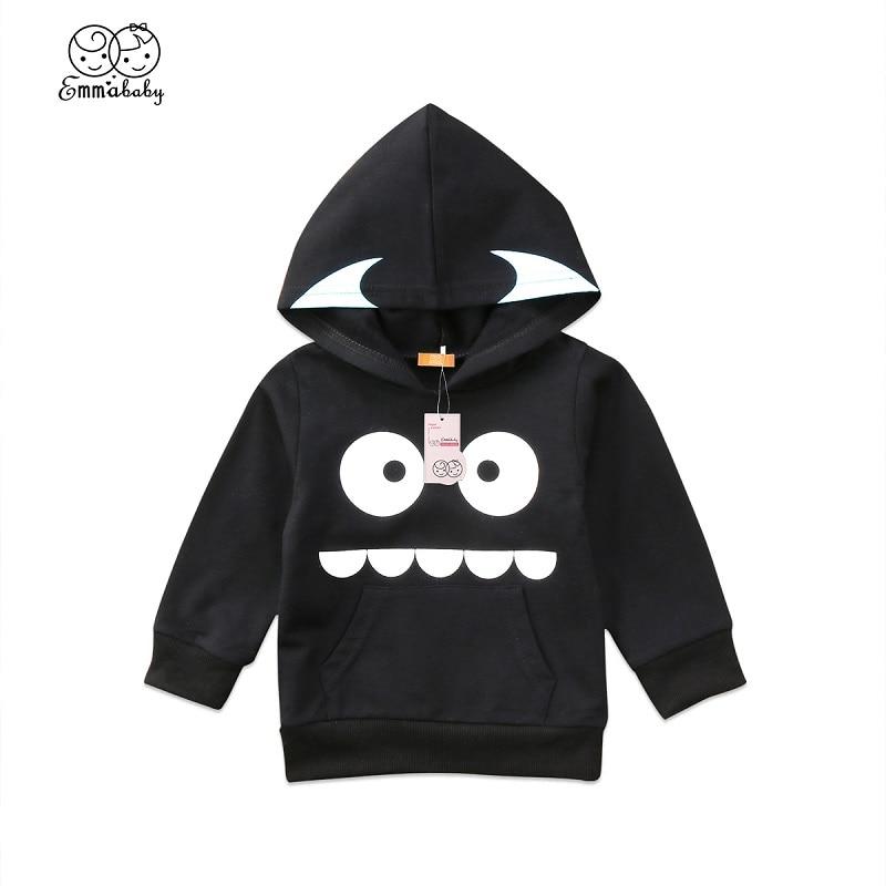 Emmababy Cute Infant Kids Baby Boy Girl Long Sleeve Hooded Tops Sweatshirt Hoodies Cartoon Cotton Autumn Clothes 0-3Y