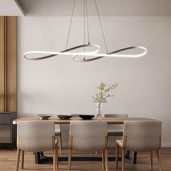 Moderno Led Bianco Nero Lampadario Per Soggiorno Cucina Sala ...
