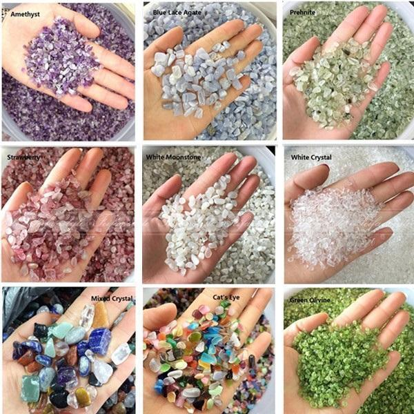 50g Natural White Moon Stone/Green Olivine Quartz Crystal/Amethyst Crystal Stone/Blue Lace Agate Natural Stones And Minerals
