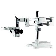 Double Boom Dualแขนอุตสาหกรรมซูมกล้องจุลทรรศน์สเตอริโอTrinocular Bracketแขน76มม.กล้องจุลทรรศน์อุปกรณ์เสริม