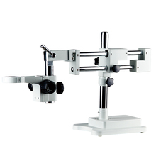 Double Boom Stand Dual Arms Industrial Zoom Trinocular Stereo Microscope Stand Holder Bracket Arm 76mm Microscopio Accessories