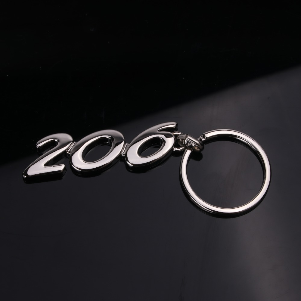 Car Keyrings For Peugeot Logo 206 207 307 301 308 408 3008 508 Keychain 4x4 4WD Keyring Car Styling Alloy Key Ring Keyrings in Key Rings from Automobiles Motorcycles