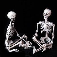 90cm Plastic Skull Skeleton For Bar Halloween Cosplay Skeleton Children Size Halloween Decoration For Haunted House 100% Plastic