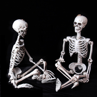 90cm Plastic Skull For Bar Halloween Cosplay Skeleton Children Size For Decorations Decor Halloween Decoration For Haunted House