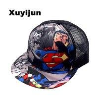 2016 Batman VS Superman Fashion Brand Children S Casual Mesh Cap Hip Hop Cap Baseball Cap