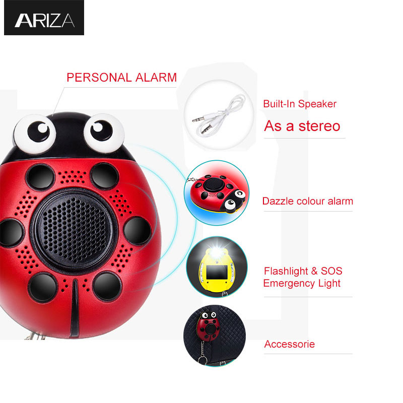 Portable 130dB Personal Alarm Keychain Anti-rape Attack Self-defense Keychain Alarm With LED Light USB Port For Women Elder Kids