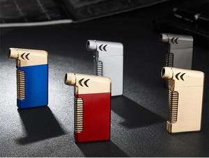 Image 5 - New Compact Butano Getto Più Leggero Torcia Turbo Fuoco Accendino Fuoco Pistola A Spruzzo Antivento In Metallo Tubo di Sigaro Accendisigari 1300 C NO GAS