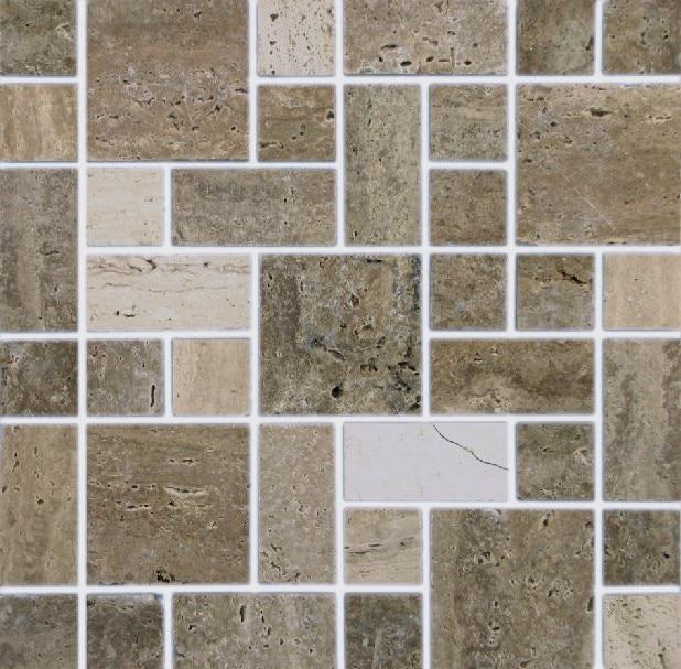 stone mosaic floor tiles