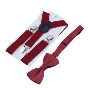 Adjustable Child Kid Elastic Suspender And Bow Tie Matching Tuxedo Y-Back Brace Belt for Boys Girls Children Costume Accessories
