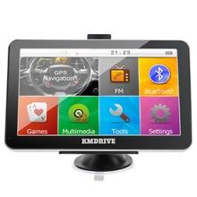 KMDRIVE 7 дюймов Сб Навигатор Автомобильный GPS Навигации Bluetooth AV-IN 800 МГЦ Fm-передатчик + 8 ГБ расслоение Бесплатно Последнее карты