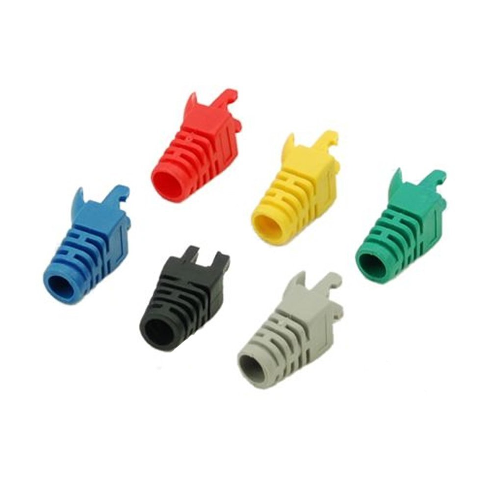 CAA-50pcs RJ45 Network Cable Plug Boots Cap New(Electronics)