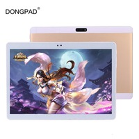 DONGPAD 10.1 inch tablet pc Deca 10 core 3 Gam 4 Gam GPS Android 7 4 GB 64 gb/128 gb Phablet PC Dual Camera 8.0MP 1920*1200 IPS Screen