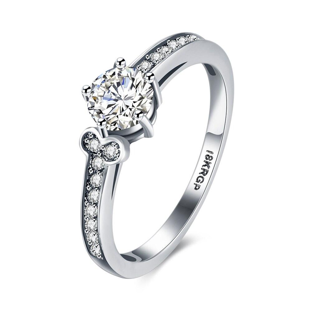 Lureme Ladies Fine Jewelry Cubic Zirconia Bone Shape Wedding Engagement Band  Ring For Women Size6