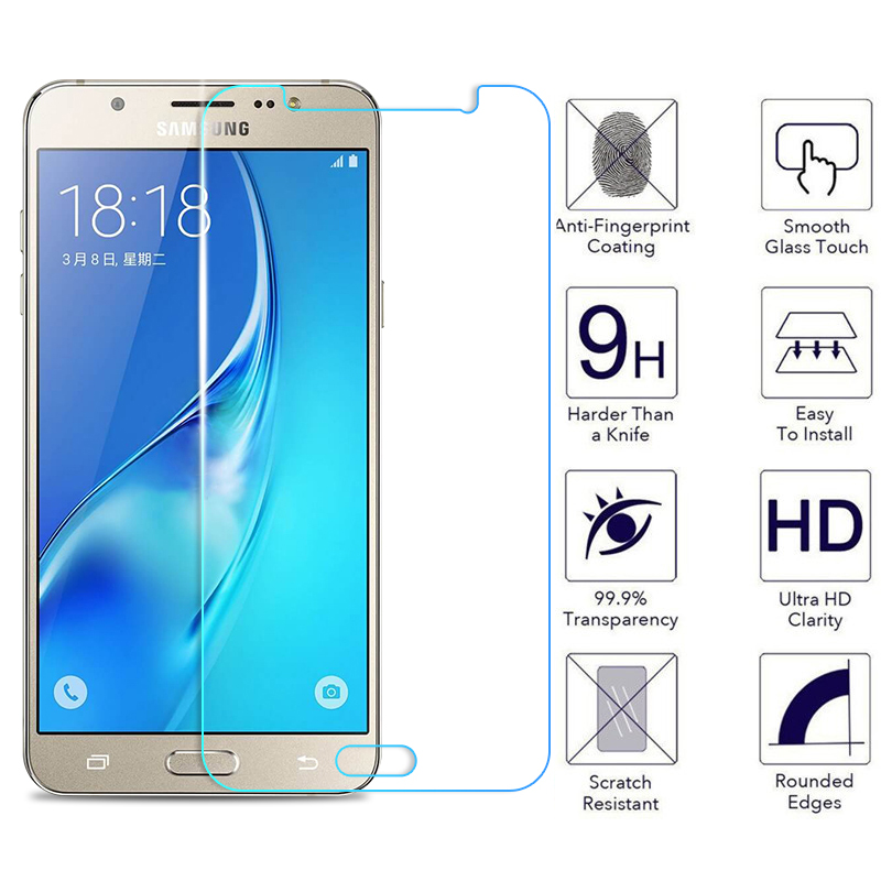 8f97220d6d Protective Glass on For Samsung Galaxy J3 J5 J7 A3 A5 A7 2015 2016 2017 A6  A8 Plus
