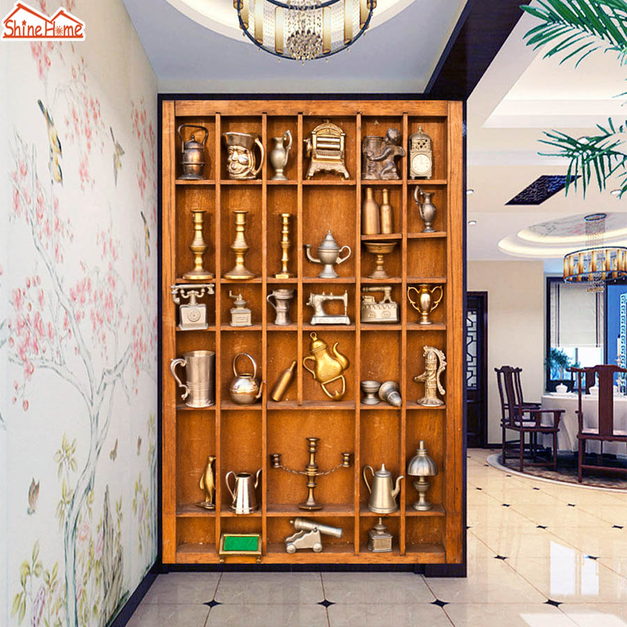 ShineHome- Large Mural Photo Wallpapers Abstract Wood Case 3D Living Room Wall Mural Washable-Wallpaper Stereoscopic Home Decor customize 3d wall murals home decor dragon wood carving 3d photo wallpapers for living room 3d mural wallpaper
