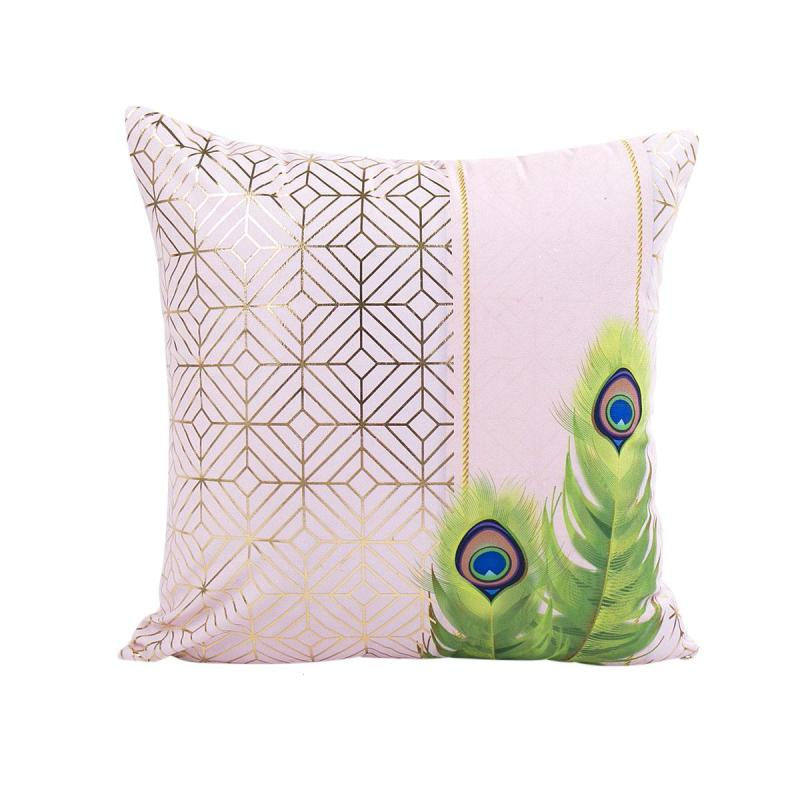 Super Soft Gold Printing Home Cushion Cover Bedroom Sofa Chair Car Seat Pillowcase Office Cafe Decorative Throw Pillow Cover V3