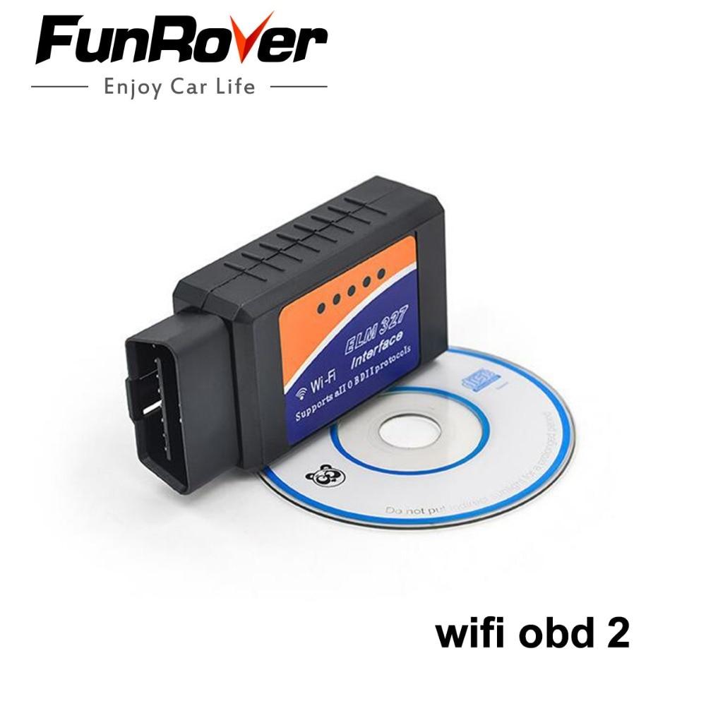 ELM 327 v 1.5 2 Wifi OBDII OBD Hot Car Ferramenta de diagnóstico Do Carro Leitor de Código de Interface Scanner Funciona Em Android DVD de navegação telefone