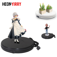 25cm LED Photo 360 Degree Electric Rotating Turntable Rotating Display Stand for Photography Jewelry Watch Digital Product