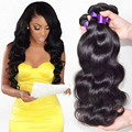 "7A Peruvian Virgin Hair Body Wave 3 Bundles Peruvian Body Wave Virgin Hair Bundle Deals Remy Human Hair Weave 6""-28"""