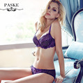 2016 brand elegant underwear set full transparent lace sexy women bra set plus size push up bras and lingerie set BS320