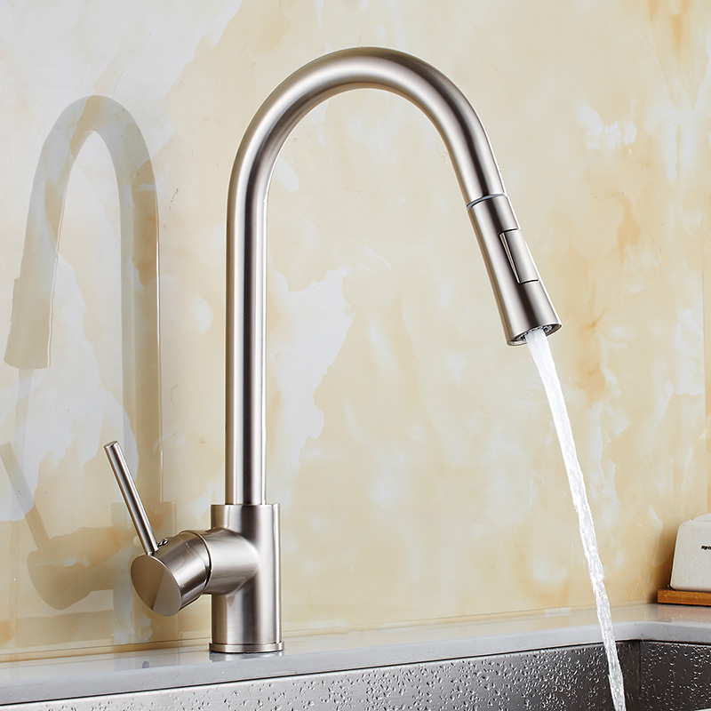 Kitchen black copper sink faucet Promotion Pull Out Brass Black ...