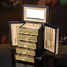 2017 Mordoa Promotion Jewelry Display Case Necklace Earring Holder Box Gift For Women Train Case New Jewelry Organizer Box