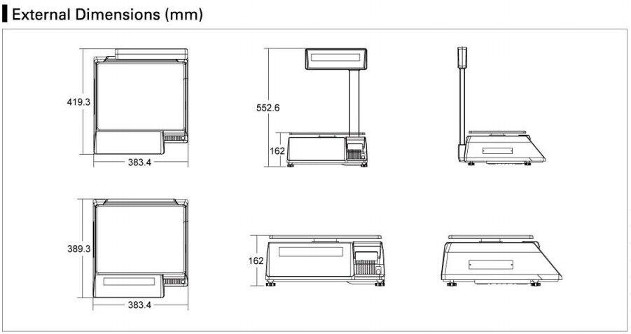 購入 SM100PCS 価格コンピューティング電気スケールバーコードプリンタ小売業者新 SM110P デジタルラベル印刷スケールバランス  グループ上の パソコン & オフィス からの プリンター の中 2