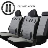 Dewtreetali Auto Seat Protectors Black Gray Car Seat Covers Full Set PU Leather Sponge Universal Car Styling Car Accessories