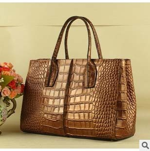 Alligator Las Laptop Bags Genuine Leather Cross Section Square Inclined Shoulder Bag Single