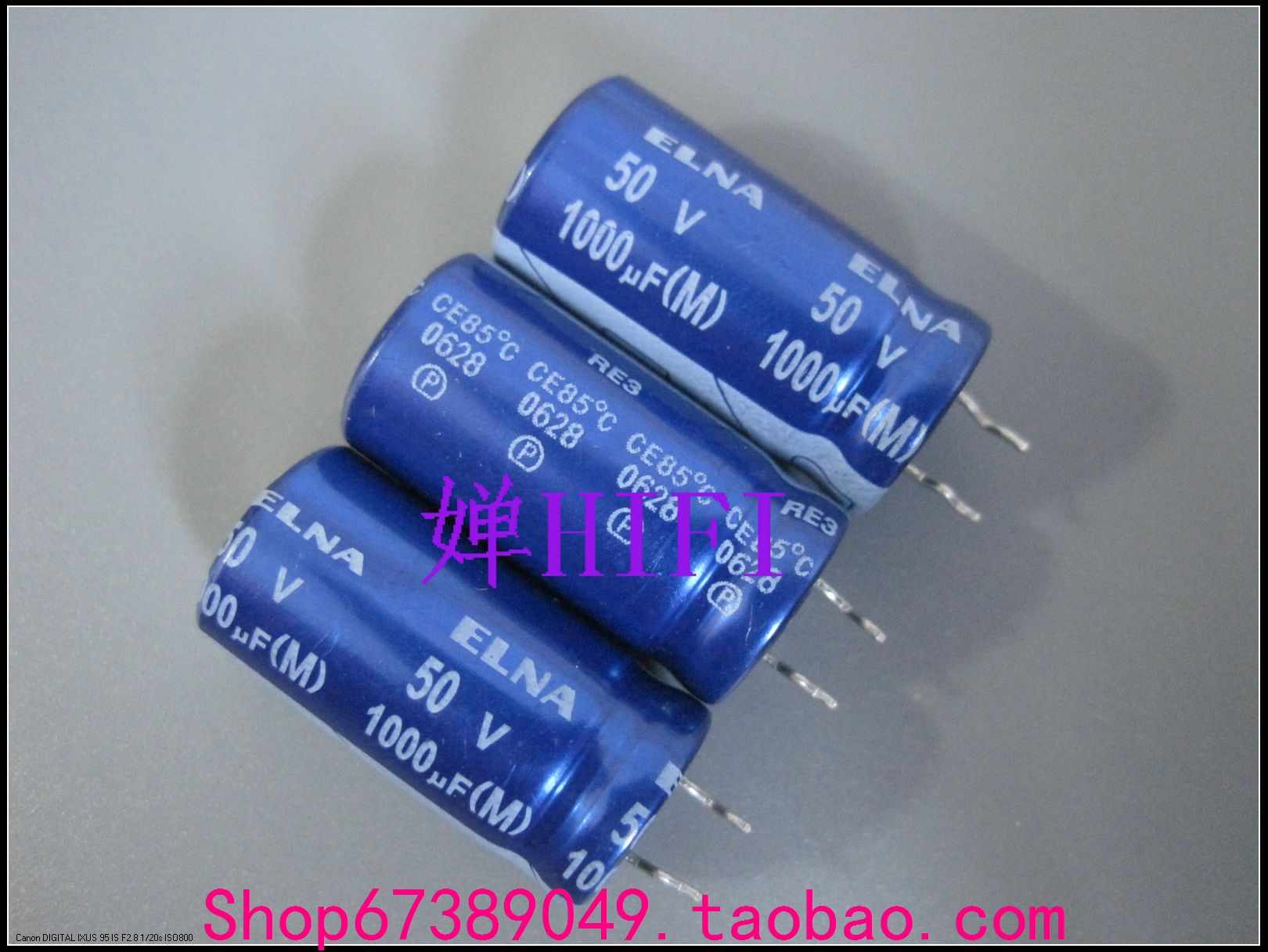2019 hot sale 20PCS/50PCS Imported ELNA original <font><b>50V</b></font> <font><b>1000UF</b></font> RE3 blue robe electrolytic capacitor free shipping image