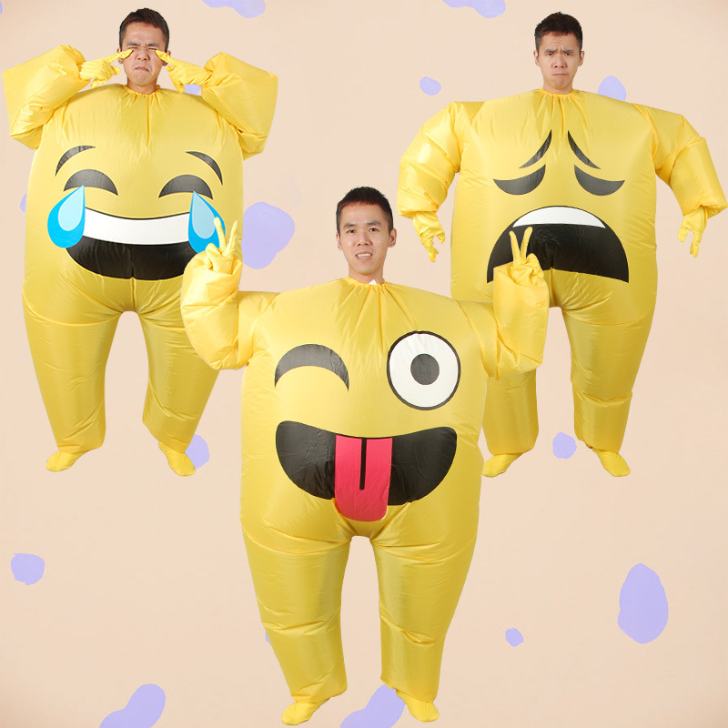 US $20 99 35% OFF|Adult Funny Emoji Inflatable Costumes Emoji Poop Pile  Smile Cry Heart Face Cosplay Costumes Halloween Costumes for Women Men on