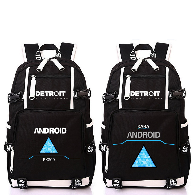 Anime Game Detroit Become Human Design Backpack Bag School Backpacks Laptop Shoulder Bags Cosplay Mochila