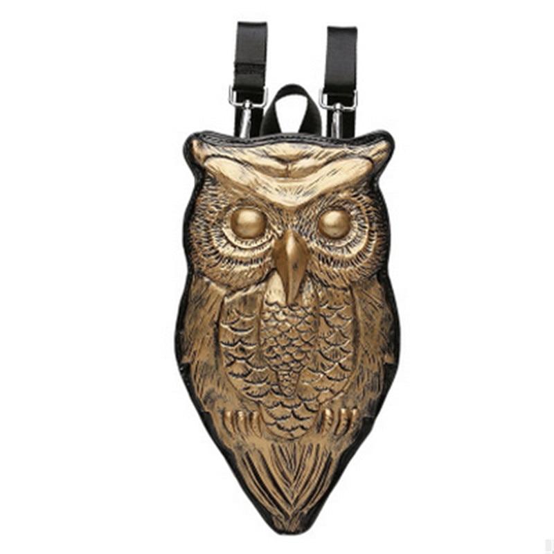 2017 New Fashion Punk Women Casual PU Leather 3D Owl Decoration Single Shoulder Bags Black Silver Gold Travel Messenger Bags все цены