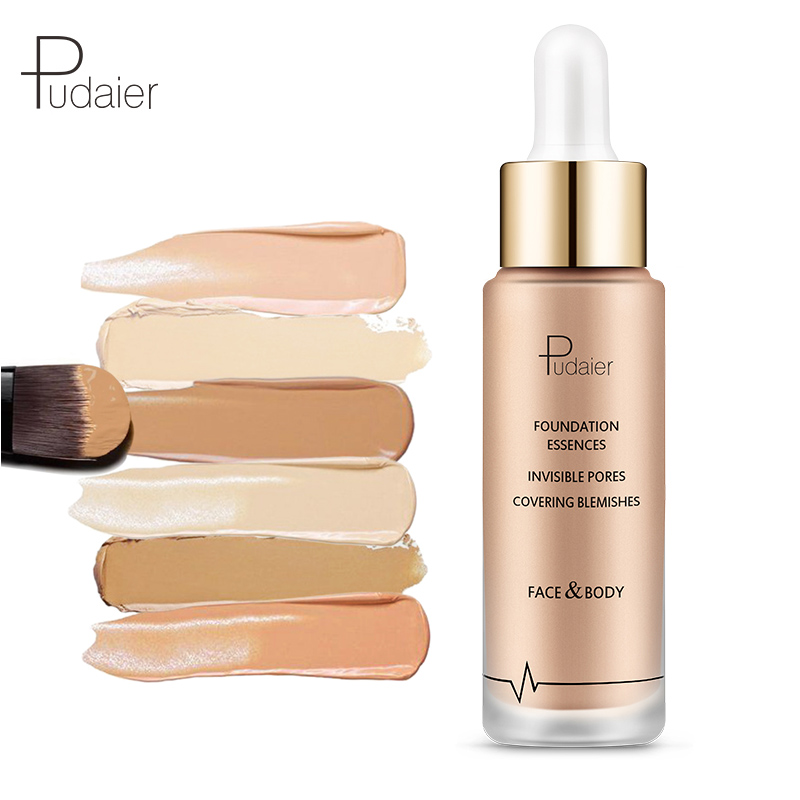 Pudaier Brand Base Foundation Face Makeup Liquid Matte Nude Make Up Concealer Cream Waterproof Natural Cosmetics Sun Block in Primer from Beauty Health