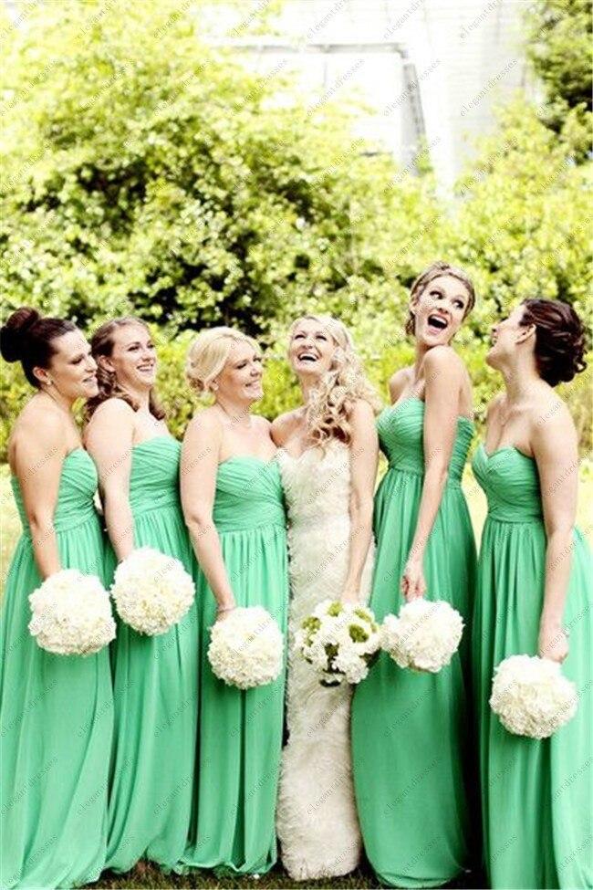 0a9007f0527b Custom made scollo a cuore mela verde lunghi abiti da damigella d onore  abiti per la cerimonia nuziale in Custom made scollo a cuore mela verde  lunghi abiti ...